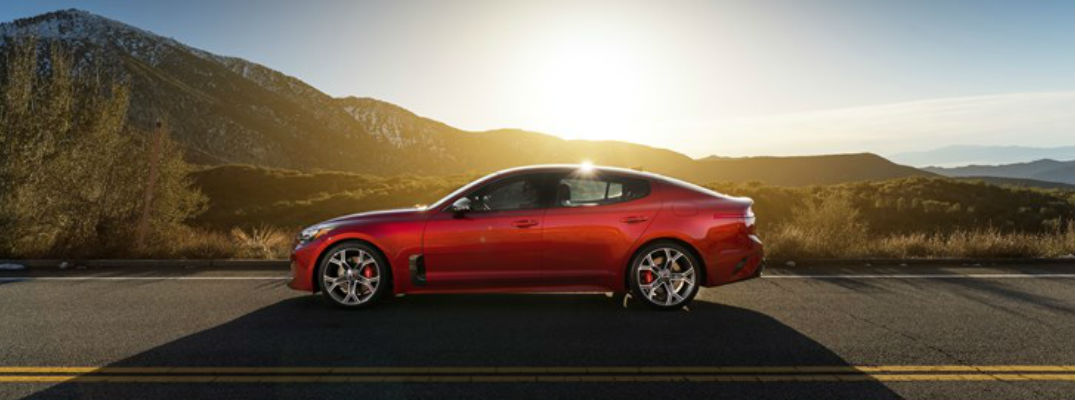 Red Exterior Side View - 2018 Kia Stinger can handle any road or weather conditions