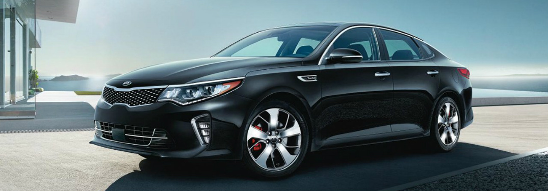 2018 Kia Optima side view in black
