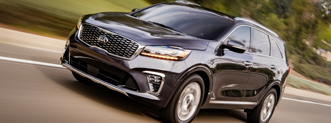 2019 Kia Sorento Front View of Black Exterior