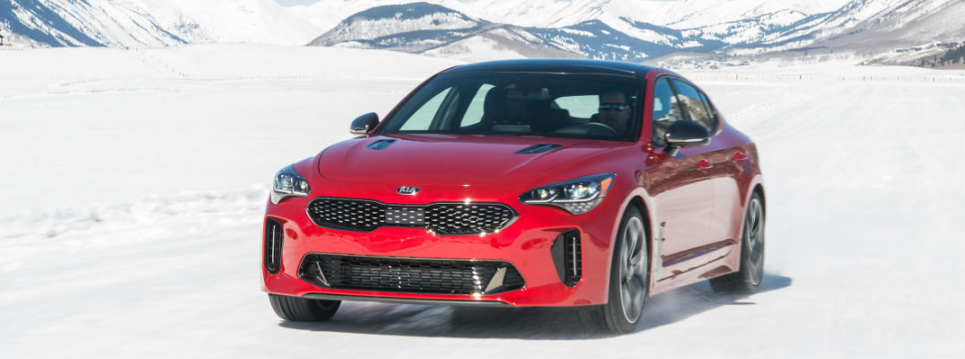 2018 Kia Stinger GT Front View of Red Exterior