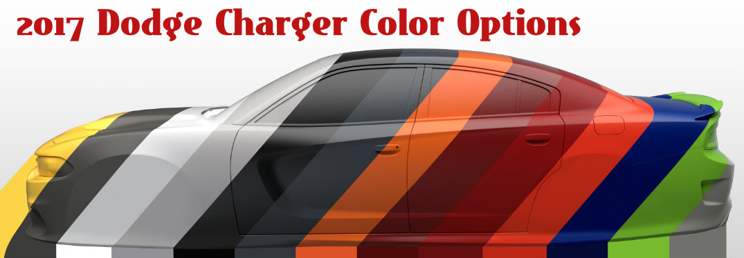 Daytona Charger 2017 Black >> Check Out the 2017 Dodge Charger Color Options