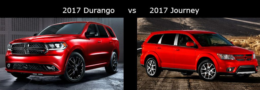 Chevy Traverse Mpg >> 2017 Dodge Durango vs 2017 Dodge Journey Comparison