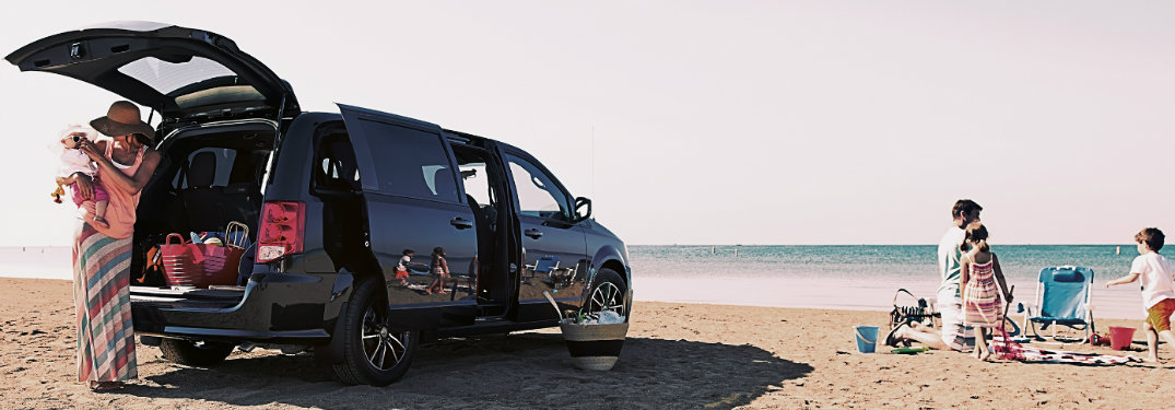 2019 Dodge Grand Caravan at the beach
