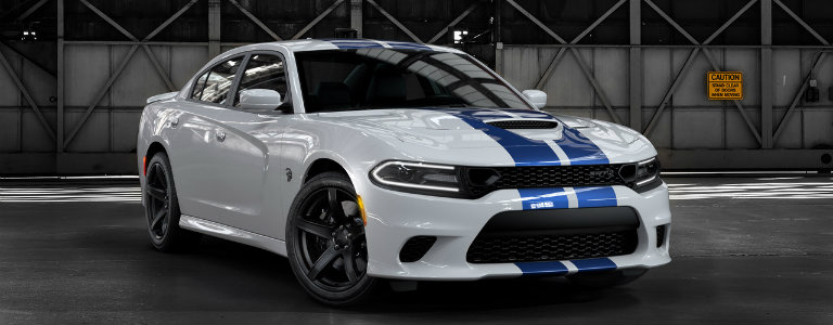 2019 Dodge Charger Hellcat with Blue Stripes