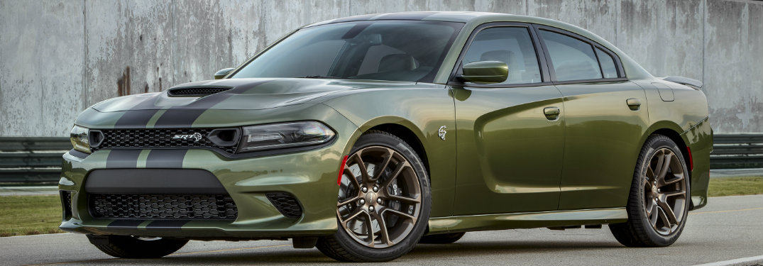 2019 Dodge Charger Hellcat in F8 Green with Stripes