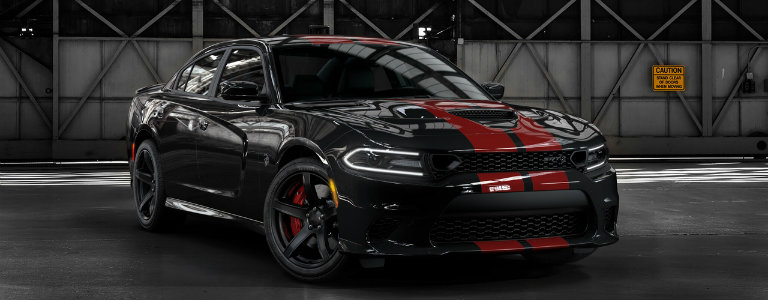 2019 Dodge Charger Hellcat with Red Stripes