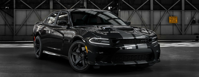 2019 Dodge Charger Hellcat with Silver Stripes