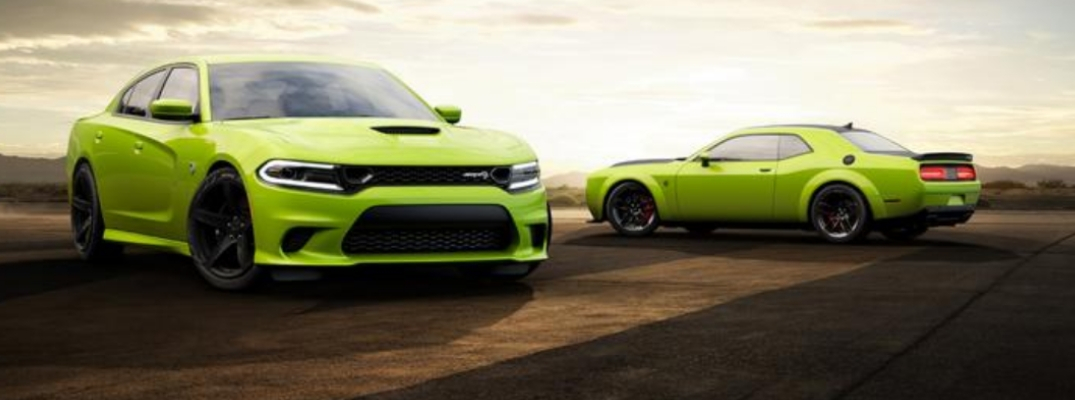 2019 Dodge Challenger and Charger in Sublime