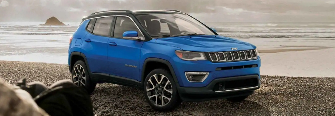 2019 Jeep Compass on rocky shore
