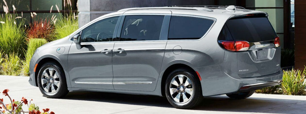 Side view of grey 2020 Chrysler Pacifica