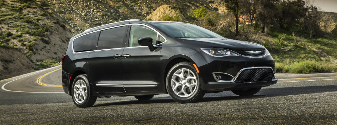 2020 Chrysler Pacifica on winding road