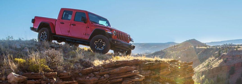 2020 Jeep Gladiator Rubicon on cliff