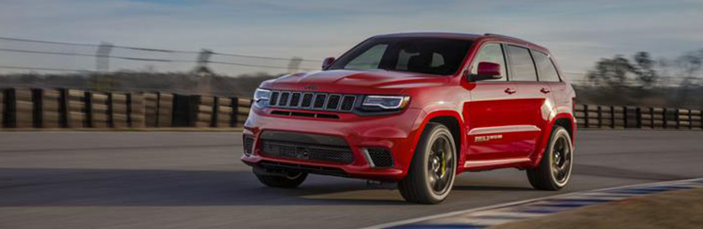 2020 Jeep Grand Cherokee on curving road