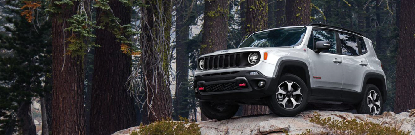 2020 Jeep Renegade on cliff