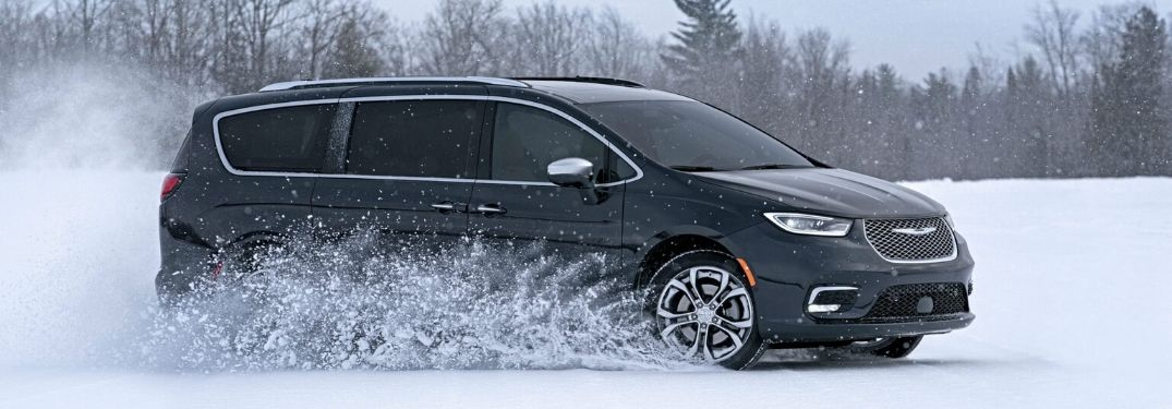 2021 Chrysler Pacifica on snowy road
