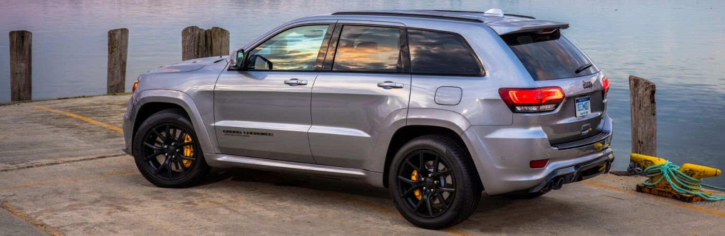 2020 Jeep Grand Cherokee on dock
