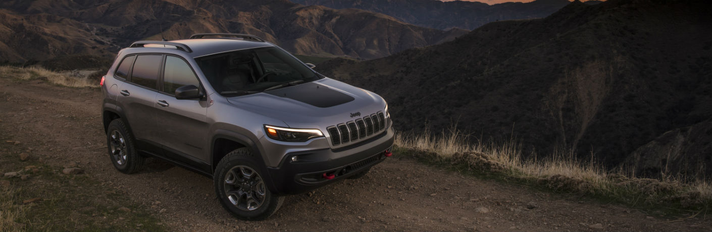 2021 Jeep Cherokee Trailhawk on a trail