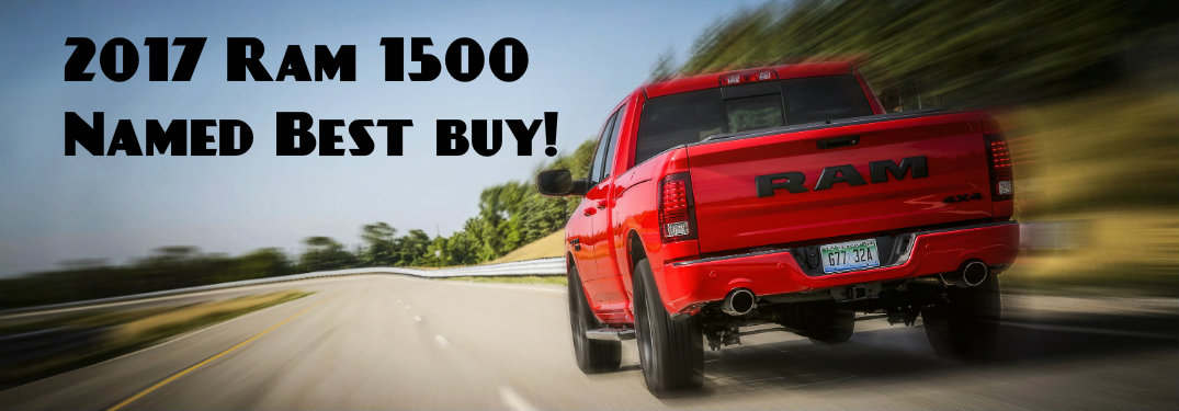 Ram 1500 Named One of the Country's Best Buys!