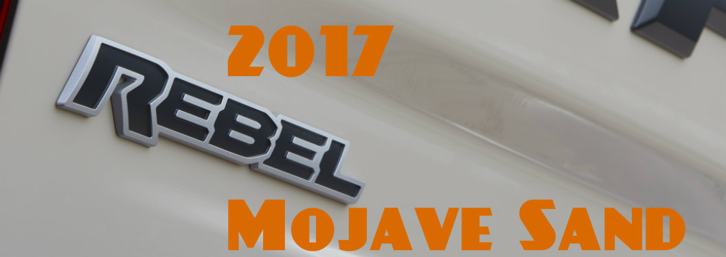 2017 Ram Rebel Mojave Sand Limited Edition Release Date