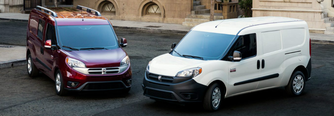 2018 Ram ProMaster City models side-by-side exterior front views