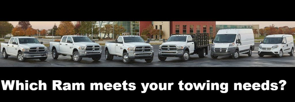 Which Ram vehicle meets your towing and payload needs?