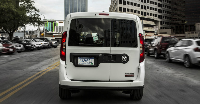 rear view of the 2019 Ram ProMaster City