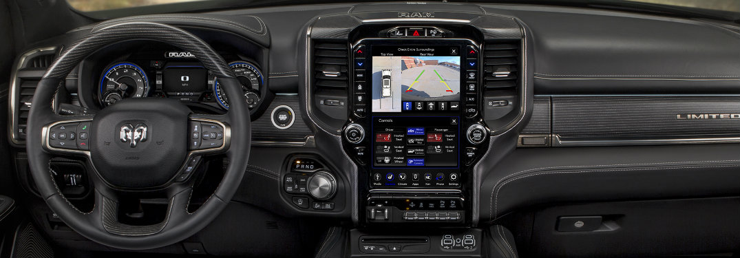 12-inch Uconnect infotainment display on the 2019 Ram 1500