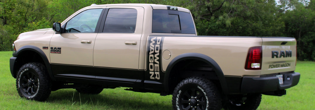 side view of the 2018 Ram Power Wagon Mojave Sand