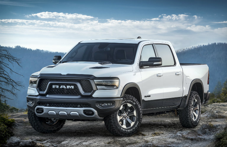 front and side view of the 2019 Ram 1500 Rebel 12