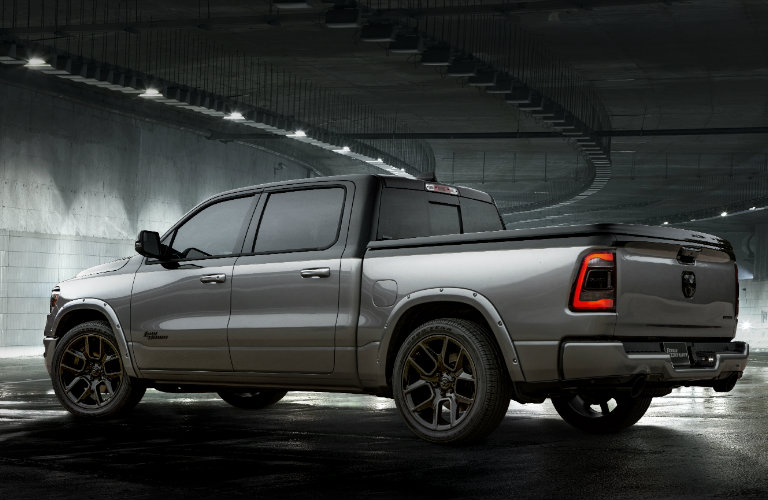 """rear of the 2019 ram 1500 Big Horn """"Low Down"""" from SEMA 2018"""