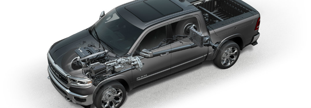 2019 Ram 1500 with the eTorque hybrid system illustrated