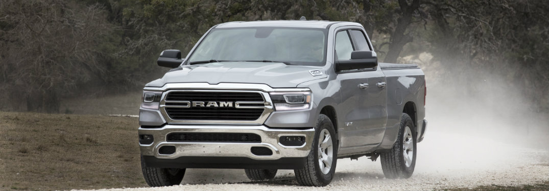 2019 Ram 1500 Big Horn driving on gravel