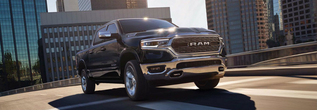 2019 Ram 1500 driving in the city