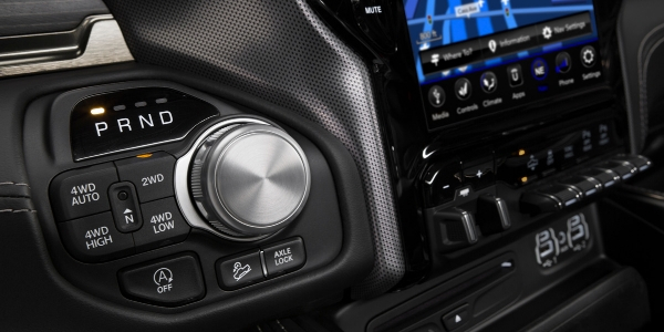 Closeup of 2019 Ram 1500 interior