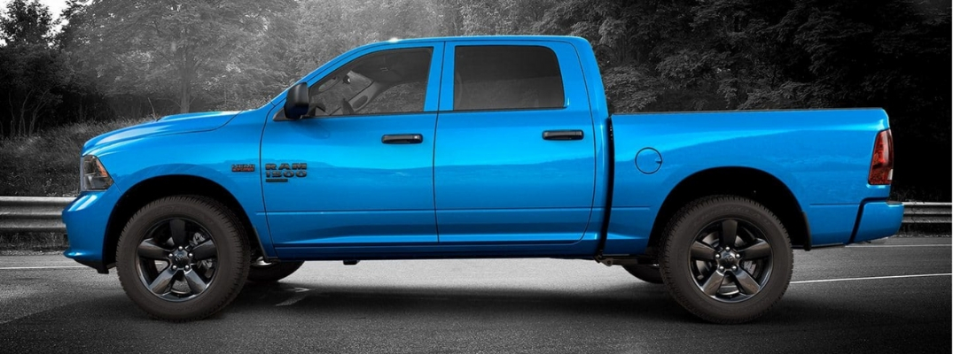 Style and Capability Behind the Wheel of the Ram 1500 Classic Express Hydro Blue