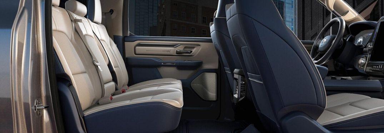 2020 Ram 1500 Limited interior - Indigo & Frost Beige