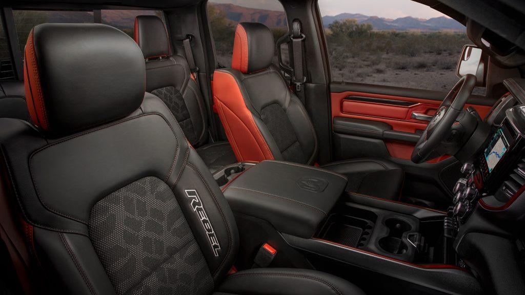 2020 Ram 1500 Rebel interior upholstery