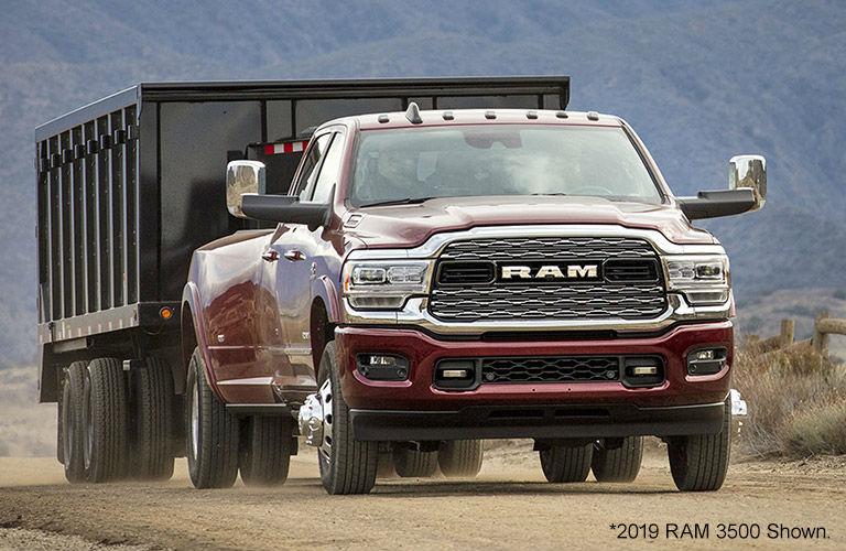 2020 Ram 3500 truck on dirt path