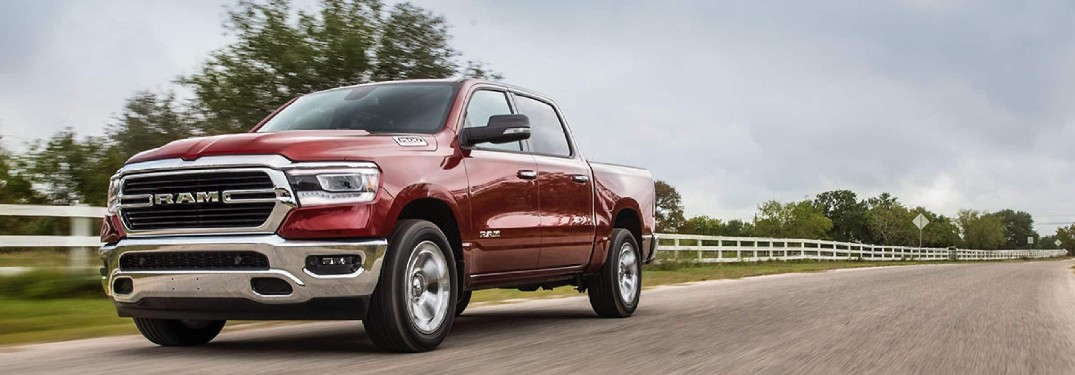 2021 Ram 1500 on country road