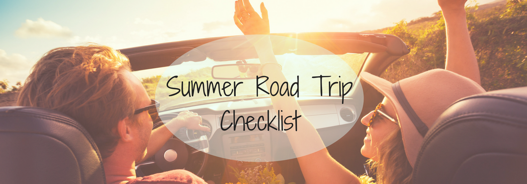 Summer 2017 Road Trip Checklist