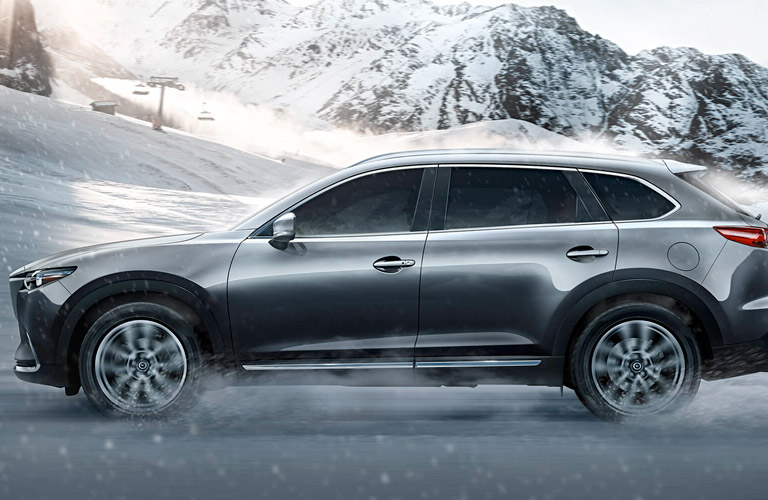 2017 Mazda CX-9 exterior view of left side in gray