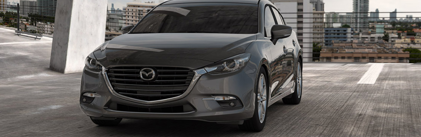 2018 mazda3 front view parked