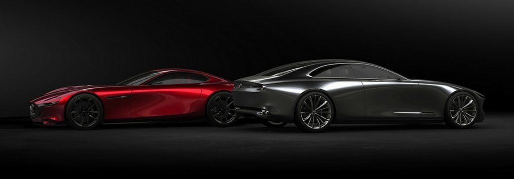 mazda kai and vision concept models side by side