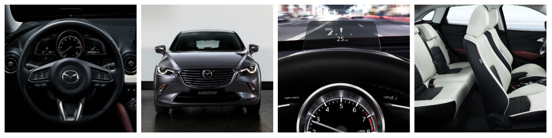 2018 mzda cx-3 collage with sterring wheel seating display