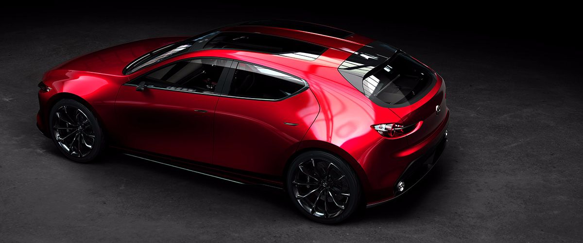 Mazda KAI CONCEPT hatchback view from top