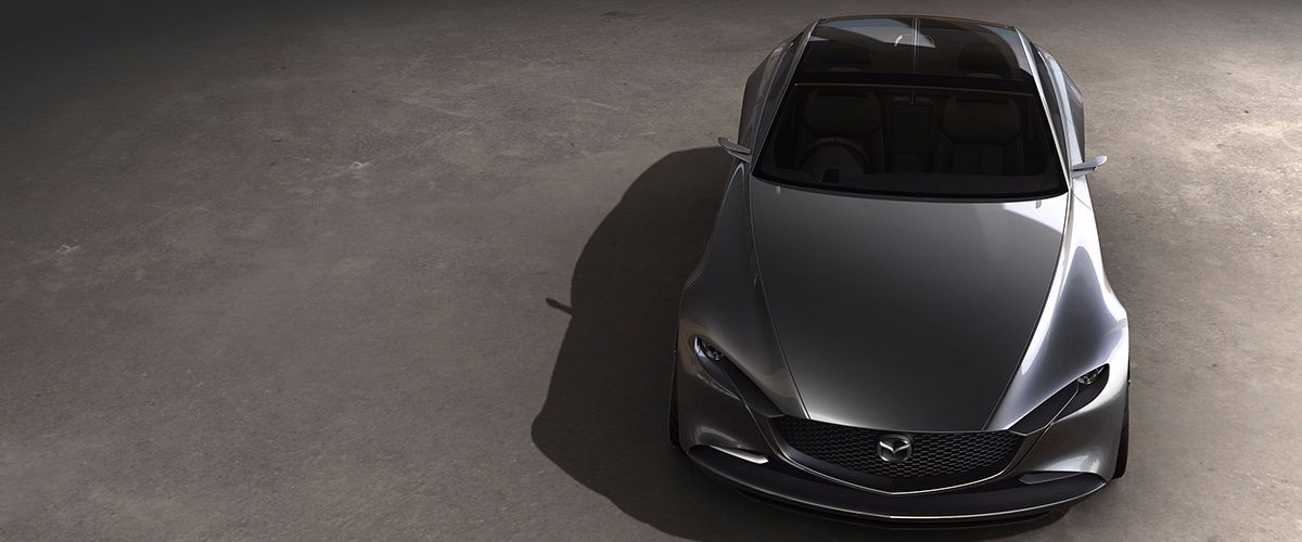 Mazda VISION COUPE overhead view of hood