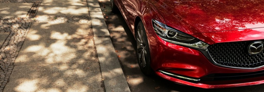 2018 mazda6 closeup of new grille and front fascia