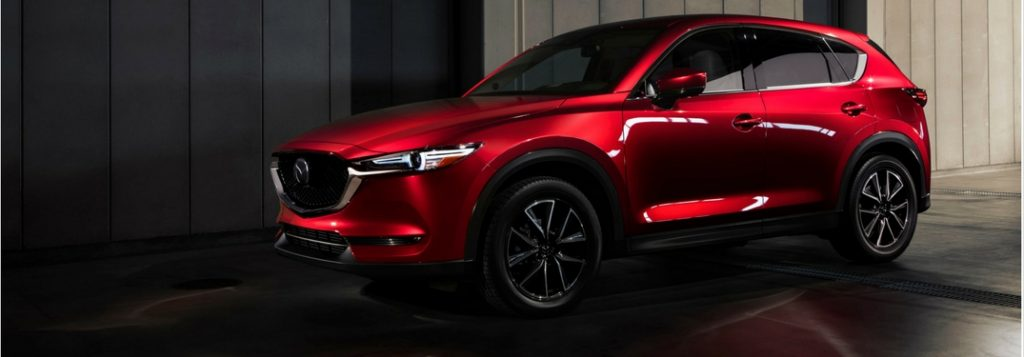 2018 mazda cx-5 in soul red side view