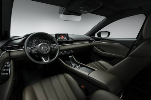 2018 mazda6 interior front row with infortainment screen