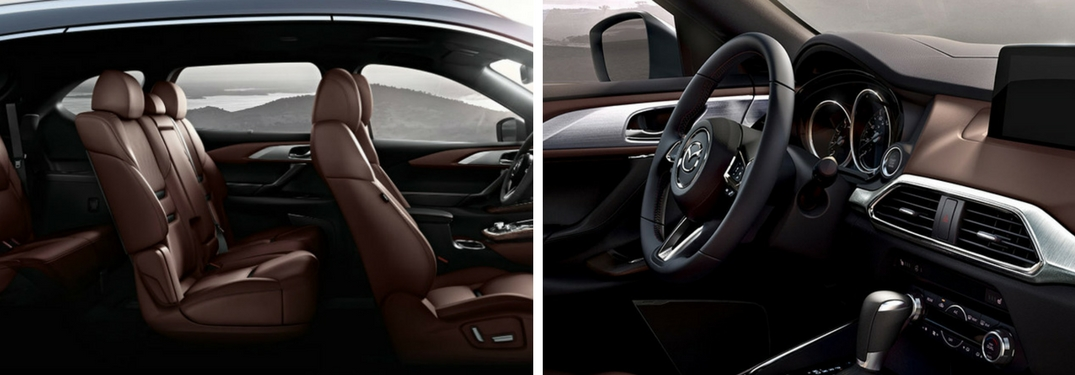 2018 mazda cx-9 interior seating and front row